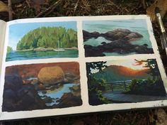 Landscape Art, Landscape Paintings, Landscapes, Art Watercolor, Guache, Posca, You Draw, Art Sketchbook, Beautiful Paintings