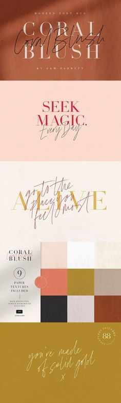 Coral Blush Font Duo - Explore a stunning typography pairing with Coral Blush; a carefully crafted and perf. Coral Blush Font Duo - Explore a stunning typography pairing with Coral Blush; a carefully crafted and perf. Script Typeface, Typography Fonts, Hand Lettering, Typography Design, Lightroom, Photoshop, Typography Inspiration, Graphic Design Inspiration, Design Ideas
