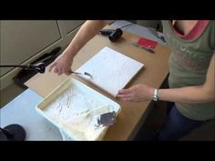 Acrylmalerei Techniken   Strukturen mit fester Farbe   Teil 1 - YouTube