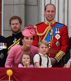 It may have been the Queen& birthday but Kate Middleton and her two young children Prince George and Princess Charlotte were the stars of the show the Buckingham Palace balcony.