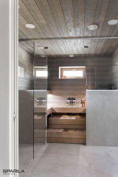 40 Beautiful Sauna Design Ideas For Your Bathroom Saunas, Bathroom Toilets, Laundry In Bathroom, Piscina Spa, Indoor Sauna, Sauna Design, Finnish Sauna, Sauna Room, Spa Rooms
