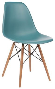 Furniture eames side chair with wooden dowel legs for Eames tisch replica