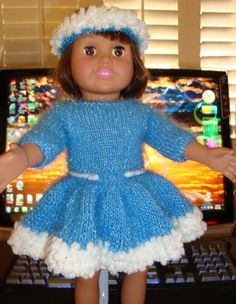AG doll - Basic Holiday/Party Dress with Variations: 1) http://www.knittingparadise.com/tpr?p=2240295&t=117542 2) http://static.knittingparadise.com/upload/2012/10/16/1350385696220-am_girl_basic_holiday_party_dress_with_variations.pdf