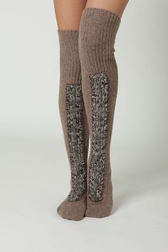 Cabled Socks (waayy to expensive..holy crap!) but SO cute!!