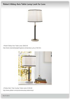 West Elm Marble Pillar Table Lamp Vs Modern Stylish Marble Accent Table Lamp  With White Canvas Shade | DecorPad Look For Less | Pinterest | Marbles And  ...