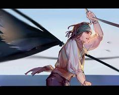 Anime Pirate, Pirate Art, Jony Depp, Johnny Depp Cry Baby, Ride Movie, One Piece Comic, Captain Jack Sparrow, Anime Profile, Disney Fan Art