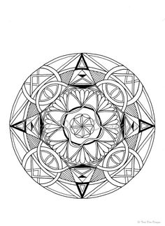 Mandala Adult Coloring Page-Printable by TerriDorrDesigns on Etsy