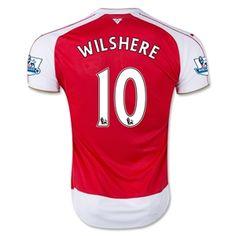 Arsenal 15 16 WILSHERE Home Soccer Jersey Arsenal Football Shirt bc68aef21