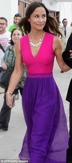 Pippa Middleton with her Love bangle...