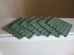 Scrubbies, Facial Pads, Make-up Removers, Small Washcloths, All Cotton, Set of 6, Sage Green, Lime, Eco Friendly, Reusable by TooCozy on Etsy