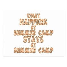What Happens at Summer Camp Postcard   gifts for camping lovers, rustic camping, camping kit #airstream #airstreamrenovation #airstreamlife