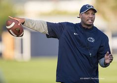PENN STATE – FOOTBALL 2014 – Penn State wide receivers coach Josh Gattis during practice on the Lasch outdoor fields on September 17, 2014. The Lions will host Massachusetts on Saturday. Joe Hermitt, PennLive