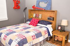 13 DIY Wood Headboard That Even the Beginner Can Build: Storage Headboard Plan From Build Something Diy Storage Headboard, Cheap Diy Headboard, Wood Headboard, Headboards For Beds, Pallet Headboards, Bookcase Headboard, Headboard Ideas, Bedroom Storage, Bunk Beds