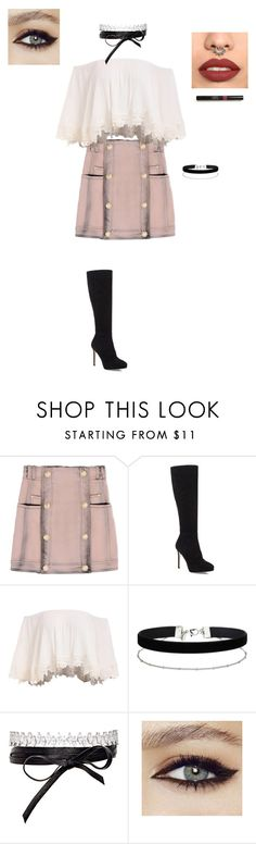"""Simply This."" by makayla187 on Polyvore featuring Balmain, Jimmy Choo, Miss Selfridge and Fallon"