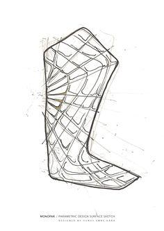 MONOPAR / PARAMETRIC DESIGN SURFACE SKETCH /  DESIGNED BY YUNUS EMRE KARA