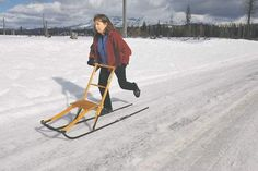 Spark (a kick sled.)  A wonderful way to get around in northern Sweden.