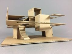 Sean Noon Project 1 / Student Projects at Dundee School of Architecture Concept Models Architecture, Architecture Model Making, Conceptual Architecture, Paper Architecture, Parametric Architecture, Architecture Student, Architecture Design, Maquette Architecture, Cardboard Model