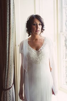 Gorgeous Foxglove by Jenny Packham for a 1920s Inspired Wedding. Photography by www.babbphoto.com