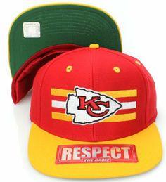 Kansas City Chiefs NFL Red Tone Vintage Snapback Flatbill Cap   Hat -  RAISED LOGO by d8880f30d