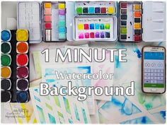 1 Minute Art BACKGROUND Watercolor ♡ Maremi's Small Art ♡