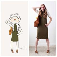 Sonnet James Quincy Dress. #sonnetjames #catplusmouse #customportrait #fashionillustration #illustration #doodle #madewithpaper #quincydress