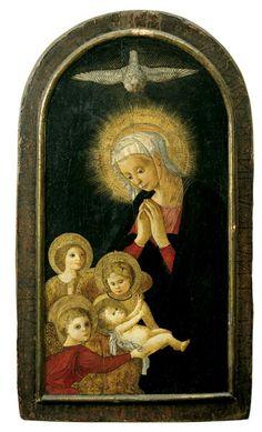 Oberitalienischer Meister, MADONNA MIT KIND UND ENGELN., 1400, Auktion 864 Alte Kunst, Lot 1164