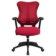 FREE SHIPPING! Shop Wayfair for Flash Furniture Mid-Back Chair with Nylon Base - Great Deals on all Furniture products with the best selection to choose from!