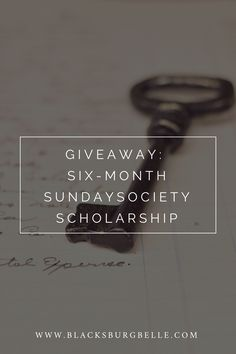 Enter to win a six-month scholarship to Sunday Society, a membership site for creative entrepreneurs. via @blacksburgbelle