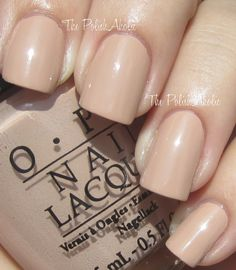 The PolishAholic: OPI Fall 2012 Germany Collection Swatches - Don't Pretzel My Buttons, a yellow-based beige