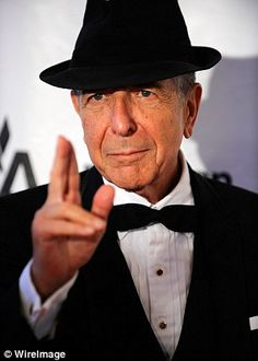 Leonard Cohen attends the 41st Annual Songwriters Hall of Fame Ceremony at The New York Ma...