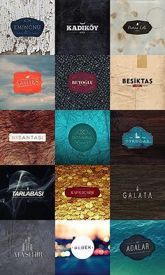 Istanbul Tipografi / Typography BY: Kutan URAL, great logos! Typography Logo, Graphic Design Typography, Logo Branding, Lettering, Corporate Branding, Art Logo, Coperate Design, Logo Design, Brand Design