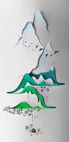 Ilustración con papel e ingenio de EIKO OJALA. - Colectivo Bicicleta | Revista digital/Artes visuales. ilustración y diseño Colombia y Latin...