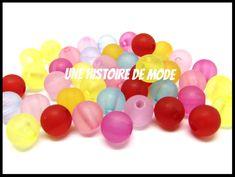 perles acrylique - UNE HISTOIRE DE MODE