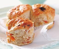 Bursts of sweetness from dried apricot and added crunch from slivered almond gives these scones an extra boost.