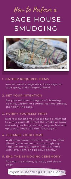 Here are the simple steps to sage cleansing your home including where to buy sage, an easy sage alternative, and other herbs you can mix in. Smudging Prayer, Sage Smudging, Tarot, Spiritual Cleansing, Energy Cleansing, Burning Sage, Smudge Sticks, Do It Yourself Home, Holistic Healing