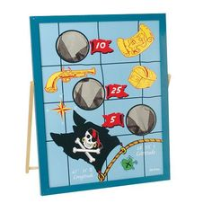 Pirate Bean Bag Toss by US Toy Company, $30  http://www.amazon.com/dp/B00362L03U/ref=cm_sw_r_pi_dp_Z53frb1Z43Y8E