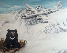 Gertie the bear who flew bombing missions over Japan http://ww2awartobewon.com/wwii-articles/gertie-b-29-bomber-bear/