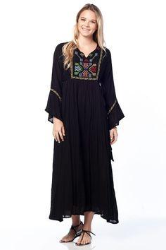 Otantik Hazar Elbise - Siyah