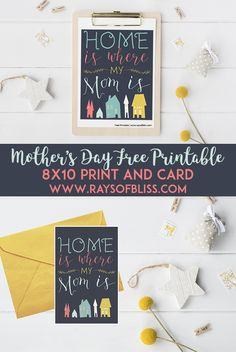 Mother's Day Free Printables 8×10 Print and Card!