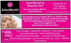 Botox en Injectables op dinsdagavond 15 april vanaf 19.00 uur, cosmetisch arts Dhr. Berends is wederom aanwezig bij Beautifulskin. http://koopplein.nl/middendrenthe/3059066/botox-en-injectables-op-dinsdagavond-15-april.html