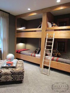 Built in Bunks Would love in basment