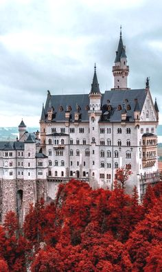 Neuschwanstein Castle in Fall, Germany Germany Dans notre blog beaucoup plus d'informations http://storelatina.com/germany/travelling #Alemanhatravel #Alemanha #germanytravel #travelinggermany