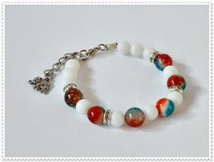 Bracelet of natural stone  agate woman bracelet gift by ROSSIBIJOU