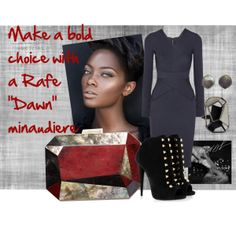 """""""Make a bold choice with a Rafe """"Dawn"""" minaudière"""" by rafe-new-york on Polyvore, bag available @Anthropologie online"""
