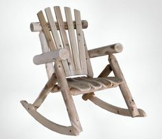 Classic Cedar Log Rocking Chair, $118 make out of driftwood branches and landscaping logs