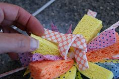 michelle paige: Water (and mud) Sponge Bombs! great idea to cover zip tie by tying two mop pieces around it! Sponge Bombs, Beach Ball, Preschool Crafts, Mud, Party Planning, Birthday Parties, Create, Knob, Cover