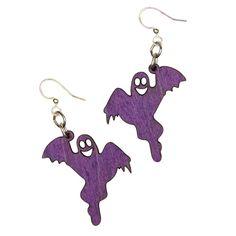 Wood Purple Ghost Earrings from The Purple Store! Purple Halloween, Purple Rings, Lavender, Bling, Drop Earrings, Jewels, Detail, Colors, Wood