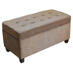 Found it at Wayfair - Upholstered Storage Ottoman in Mocha