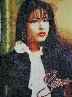 Selena Quintanilla Cross Stitch