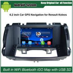 6.2 inch Android Car GPS Navigation for Renault Koleos 2009-2014 Car Video Player WiFi Bluetooth Mirror-link